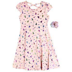 RMLA Girls 4-6X Foil Print Dress w/ Scrunchy